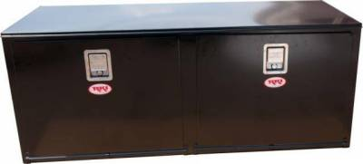 Steel - RKI Under Body Boxes Steel - RKI - RKI STEEL UNDERBODY 60X24X24 2 DOORS BLK (RKIH602424-2)