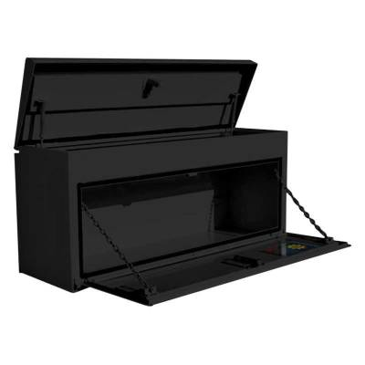"Steel - RKI Side Mount Steel - RKI - RKI 90"" Steel Upper Side Top Opening Box Black (UST90CB)"