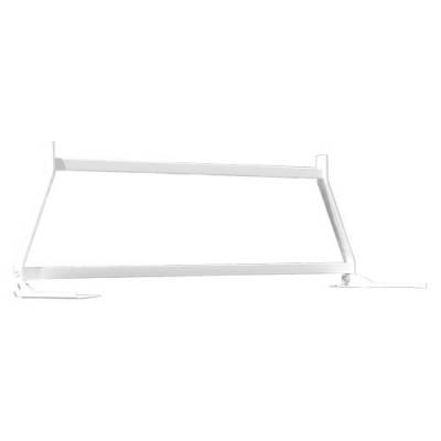 Short Angle - RKI Short Angle Racks - RKI - RKI Window Grille White No Louvers- Ford Super Duty (WG11 NL)