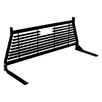 Short Angle - RKI Short Angle Racks - RKI - RKI WINDOW GRILLE BLK FORD SUPER DUTY (RKIWG11B)