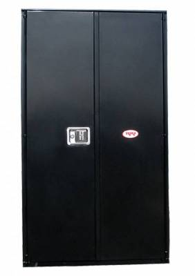 Misc. Utility - RKI Misc. Utility - RKI - RKI STEEL VERTICAL BOX 24X63X18W/OVERLAPPING DOORS BLK (RKIV246318-20)