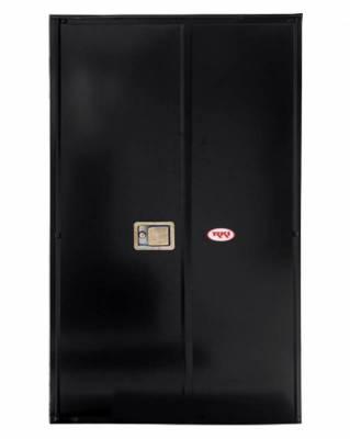 Misc. Utility - RKI Misc. Utility - RKI - RKI STEEL VERTICAL BOX 36X63X24W/OVERLAPPING DOORS BLK (RKIV366324-20)