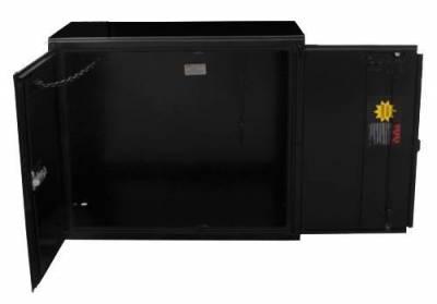Misc. Utility - RKI Misc. Utility - RKI - RKI STEEL VERTICAL BOX 42X36X18W/OVERLAPPING DOORS BLK (RKIV423618-20)