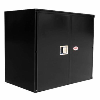 Misc. Utility - RKI Misc. Utility - RKI - RKI STEEL VERTICAL BOX 42X36X24W/OVERLAPPING DOORS BLK (RKIV423624-20)