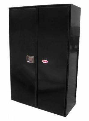 Misc. Utility - RKI Misc. Utility - RKI - RKI STEEL VERTICAL BOX 42X63X24W/OVERLAPPING DOORS BLK (RKIV426324-20)