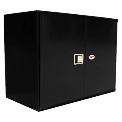 Misc. Utility - RKI Misc. Utility - RKI - RKI STEEL VERTICAL BOX 48X36X24W/OVERLAPPING DOORS BLK (RKIV483624-20)