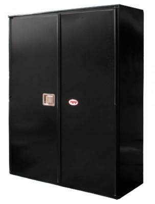 Misc. Utility - RKI Misc. Utility - RKI - RKI STEEL VERTICAL BOX 48X63X18W/OVERLAPPING DOORS BLK (RKIV486318-20)