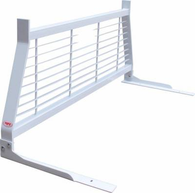 Short Angle - RKI Short Angle Racks - RKI - RKI Window Grille White Ford Super Duty (WG11)