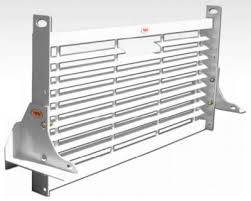 "Short Angle - RKI Short Angle Racks - RKI - RKI Service Body Window Grille 54"" Load Area White (WG54)"