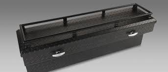"Aluminum - Camlocker Chest Boxes Aluminum - Cam-Locker - Cam-Locker CAM 57"" Chest Notched Gloss Black w/Rail (TBCAM_RV57SCN_RLGB)"