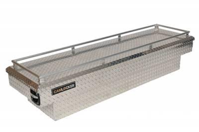 "Aluminum - Camlocker Cross Boxes Aluminum - Cam-Locker - Cam-Locker CAM 60"" Crossover 18"" Slim  Low Profile w/Rail (TBCAM_S60A LP_RL)"