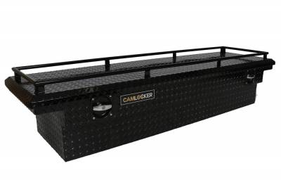 "Aluminum - Camlocker Cross Boxes Aluminum - Cam-Locker - Cam-Locker CAM 60"" Crossover 18"" Slim Low Profile Gloss Black w/Rail (TBCAM_S60ALP_RLGB)"