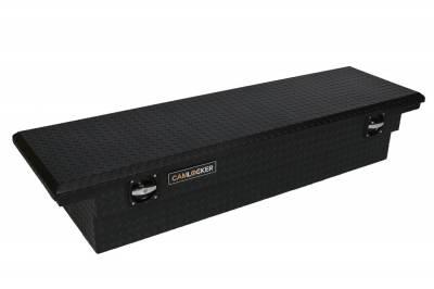"""Aluminum - Camlocker Cross Boxes Aluminum - Cam-Locker - Cam-Locker CAM 60"""" Crossover Deep 14"""" Slim Low Profile Notched Matte Black (TBCAM_KSM60ALPFN_MB)"""