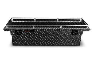 "Aluminum - Camlocker Cross Boxes Aluminum - Cam-Locker - Cam-Locker CAM 60"" Crossover Deep 14"" Slim Low Profile Notched w/Rail (TBCAM_KSM60ALPFN_RL)"