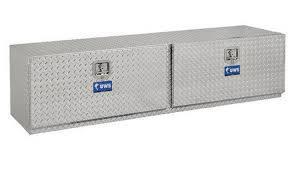 "Aluminum - UWS Under Body Boxes Aluminum - UWS - 72"" Double-Door Underbody Tool Box"