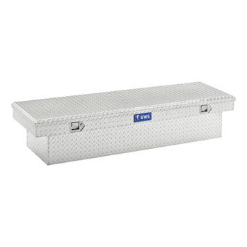 "Aluminum - UWS Cross Boxes Aluminum - UWS - 72"" Secure Lock Crossover Truck Tool Box"
