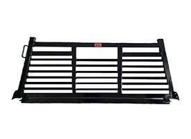 Full Angle - Roughneck 1 Piece Full Angle Rack - Roughneck - ROUGHNECK BLACK 1 PIECE WELDED LONG RAIL FULL ANGLE FULL LOUVER 8' LONG BED (BHRFAFLLB-F150)