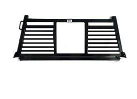 Full Angle - Roughneck 1 Piece Full Angle Rack - Roughneck - ROUGHNECK BLACK 1 PIECE WELDED LONG RAIL FULL ANGLE SPLIT LOUVER 8' LONG BED (BHRFASLLB-D)