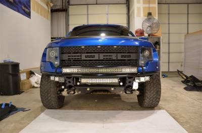 Front - Nfab Front Bumpers - N-Fab - NFAB  RDS PreRunner Front Bumper, RDB Upper only with Radius Mount no skid plate, Textured Black