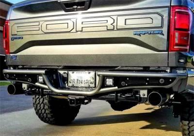 N-Fab - N-Fab  RB-H Rear Bumper PreRunner Style Gloss Black