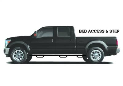 Wheel to Wheel Steps - Nfab Wheel to Wheel Steps - N-Fab - NFAB  N-Durastep, Bed Access, Semi-Gloss Black