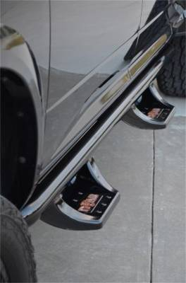 Wheel to Wheel Steps - Nfab Wheel to Wheel Steps - N-Fab - N-Fab  N-Durastep Wheel 2 Wheel Semi-Gloss Black