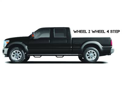 Wheel to Wheel Steps - Nfab Wheel to Wheel Steps - N-Fab - NFAB  Nerf Step, Bed Access, Gloss Black
