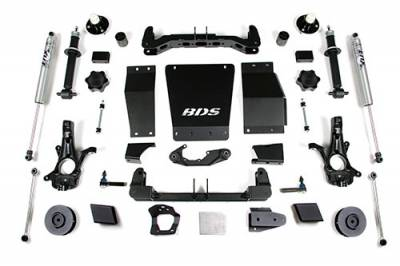 BDS - BDS Suspension Lift Kit - 4in Front/3in Rear Coil Spacer (733H)