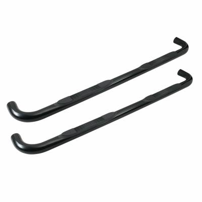 Round Steps - Tuff Bar Round Steps - Tuff Bar - TUFF BAR  Step Bar 3in Round - Double Cab   Black(1-5214)