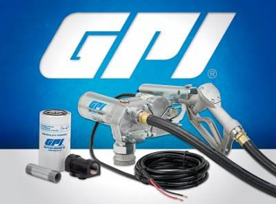 GPI - EZ-8-METHANOL-PO fuel transfer pump, 8 GPM, 12-VDC, methanol, spin collar, 15-foot power cord