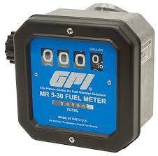 GPI - FM-300H-G8N PBT Polyester nutating disk chemical meter, LCD display, 1-inch FNPT, 2-20 GPM, gallons