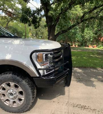Front - Roughneck Front Bumpers - Roughneck - Roughneck  HD Front Bumper  w/Receiver   2017+  F250/F350  **2020+  F250/F350  w/Rectangular Foglight Openings** (BFERF20SDR)