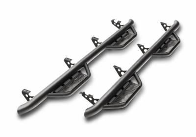 Wheel to Wheel Steps - Nfab Wheel to Wheel Steps - N-Fab - N-Fab Nerf Step Full Length 2019 Wrangler JT 4 Door Truck Gas SRW (J1980T-GB)