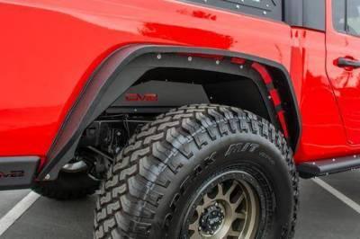 Flares - DV8 Flares - DV8 Offroad - DV8   Rear Inner Fenders   2019+  Gladiator  (INFEND04RB)