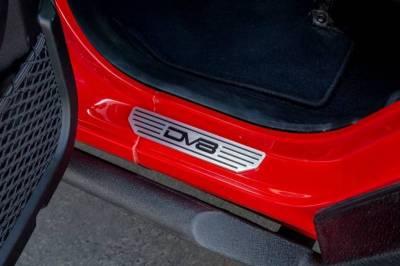 Misc. - DV8 Misc. Exterior - DV8 Offroad - DV8  4 Door Rear Sill Plates  w/  DV8 Logo   (4 Door Only)   Jeep JL   (D-JL-180014-SIL4)