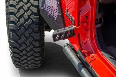 Misc. - DV8 Misc. Exterior - DV8 Offroad - DV8  Hinge Mounted Foot Pegs -Set of 2 Wrangler JL & JK  (STJL-02)
