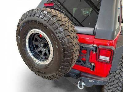 Misc. - DV8 Misc. Exterior - DV8 Offroad - DV8  HD Easy Open Hinge Replacement Spare Tire Carrier 2018-2021 Wrangler JL  (TCJL-03)