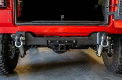 DV8  Rear Bumper Crossmember W/ Recovery Shackles 2018-2021 Wrangler JL  2/4 Door   (RBJL-04)