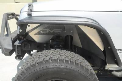 Misc. - DV8 Misc. Exterior - DV8 Offroad - DV8 - Aluminum  Inner Fender   Front   Raw   Jeep JK   (INFEND-01FR)