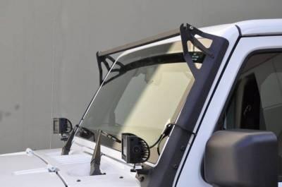 DV8 - Black Steel Light Bar     End/Bottom Mount   2007-2018   Wrangler JK   (LBSRTB-05)