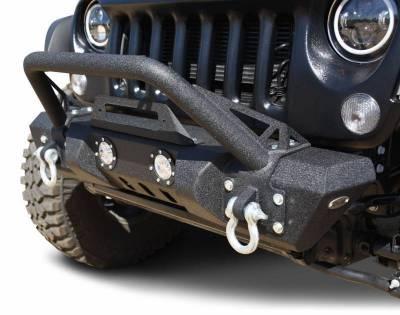 DV8 - Front Bumper   w/ LED Lights 2007-2018  Wrangler JK   (FBSHTB-11)
