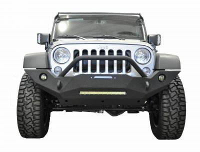 DV8 - Front Bumper   w/ Fog Lights 2007-2018 Wrangler JK   (FBSHTB-18)