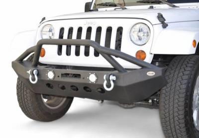 DV8 - Front Bumper   w/ LED Lights 2007-2018  Wrangler JK  (FBSHTB-08)