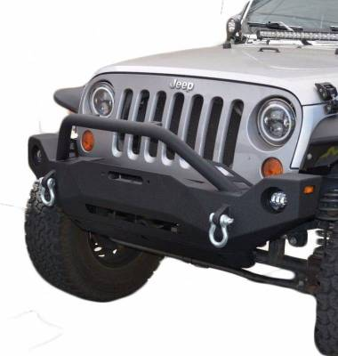DV8 - Front Bumper   w/ Fog Lights 2007-2018  Wrangler JK   (FBSHTB-19)
