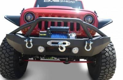 DV8 - Front Bumper   w/ Fog Lights & LED 2007-2018 Wrangler  JK   (FBSHTB-14)