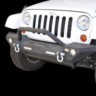 DV8 - Front Bumper   w/ LED Lights 2007-2018  Wrangler JK   (FBSHTB-07)