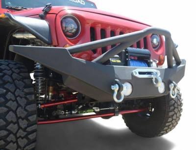 DV8 - Front Bumper  Full Length  w/ Skid Plate 2007-2018 Wrangler  JK   (FBSHTB-10)