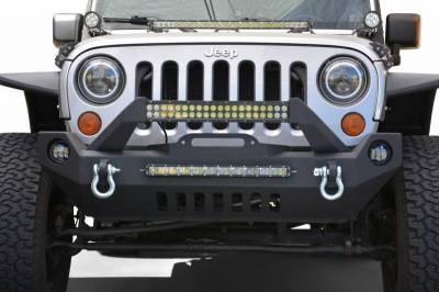 DV8 - Front Bumper   w/ Fog Lights 2007-2018  Wrangler JK   (FBSHTB-17)
