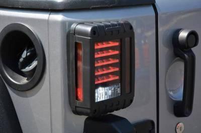 DV8 - Horizontal LED   Tail Light 2007-2018 Wrangler  JK  (TLJK-01)