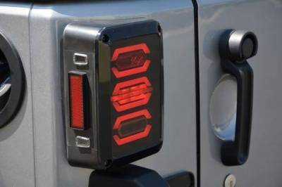 DV8 - Octagon LED Tail Light 2007-2018 Wrangler JK  (TLJK-02)